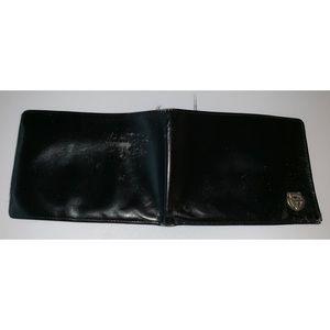 VINTAGE Gianni Versace Black Fold Medusa Wallet